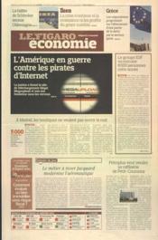 Figaro Economie (Le) N°20986 du 21/01/2012 - Couverture - Format classique