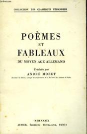Poemes Et Fableaux Du Moyen Age Allemand - Couverture - Format classique