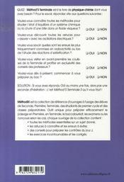 Method'S ; physique-chimie ; terminale S ; 165 méthodes, 56 exercices corrigés - 4ème de couverture - Format classique