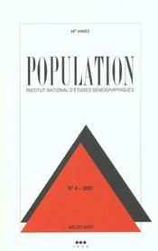 Population N 4 2001 Juillet Aout - Intérieur - Format classique