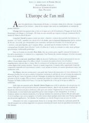 Europe De L'An Mil (L') - 4ème de couverture - Format classique