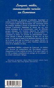 Langues, Media, Communautes Rurales Au Cameroun ; Essai Sur La Marginalisation Du Monde Rural - 4ème de couverture - Format classique