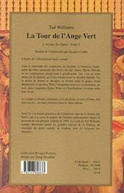 La Tour De L'Ange Vert - 4ème de couverture - Format classique