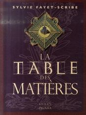 La table des matières - Intérieur - Format classique