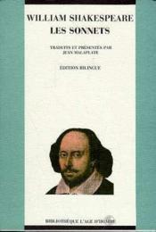 Sonnets (Trad. Malaplate, Bilingue) (Les) - Couverture - Format classique
