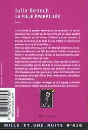 La Fille Eparpillee - 4ème de couverture - Format classique