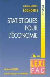 Statistiques appliquees a l'economie - Intérieur - Format classique