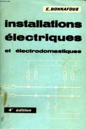 Installations Electriques Et Electrodomestiques - Couverture - Format classique