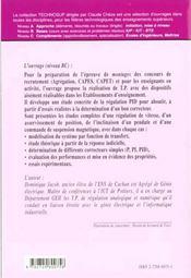 Regulation Pid En Genie Electrique Etudes De Cas - 4ème de couverture - Format classique