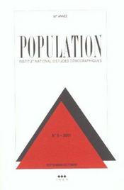 Population 2001 N 5 Septembre Octobre - Intérieur - Format classique