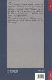La Ville Au Moyen Age 2 Volumes - 4ème de couverture - Format classique
