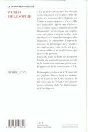 World Philophie - 4ème de couverture - Format classique
