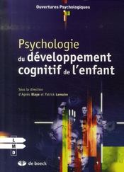 Psychologie du développement cognitif de l'enfant - Intérieur - Format classique