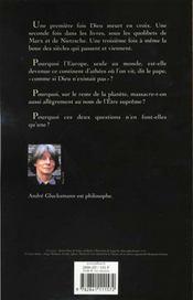 La Troisieme Mort De Dieu - 4ème de couverture - Format classique