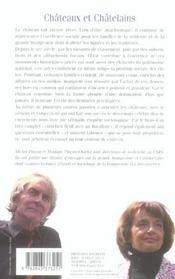Chateaux et chatelains - 4ème de couverture - Format classique