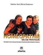 Homeopathie Guide Pratique - 2e Edition Revue Et Augmentee Precede Dune Explication Des Personnalite - Couverture - Format classique