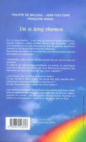 Un si long chemin ; astrologie-psychiatrie, le destin est-il ecrit ? - 4ème de couverture - Format classique