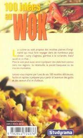 100 Idees ; Au Wok - 4ème de couverture - Format classique