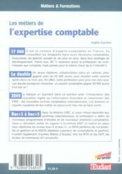 Les métiers de l'expertise comptable - 4ème de couverture - Format classique