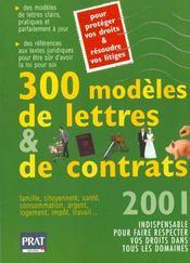 300 Modeles De Lettres Et Contrats 2001 - Intérieur - Format classique