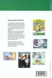 Catalogue mondial des nouveautés 1999 ; tous les timbres émis en 1999 - 4ème de couverture - Format classique