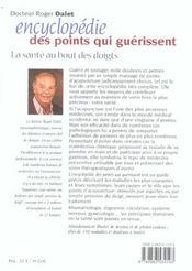 Encyclopedie Des Points Qui Guerissent Nouvelle Edition (L') N.83 - 4ème de couverture - Format classique