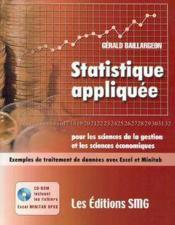 Statistique appliquee pour les sciences de la gestion et les sciences economiques avec cdrom fichier - Couverture - Format classique