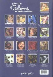 Paul Verlaine, Les Poemes En Bd - 4ème de couverture - Format classique