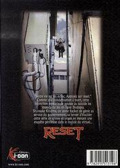 Reset - 4ème de couverture - Format classique
