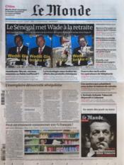 Monde (Le) N°20896 du 27/03/2012 - Couverture - Format classique