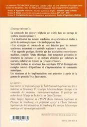 Electrotechnique Modelisation Et Commande Des Moteurs Triphases Commande Vectorielle Des Moteurs - 4ème de couverture - Format classique