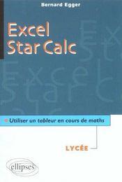 Excel Star Calc Utiliser Un Tableur En Cours De Maths Lycee - Intérieur - Format classique