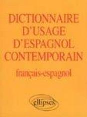Dictionnaire D'Usage D'Espagnol Contemporain Francais-Espagnol - Intérieur - Format classique
