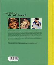 Une histoire de l'allaitement - 4ème de couverture - Format classique