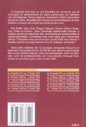 Horoscope Chinois 2005 ; Cochon - 4ème de couverture - Format classique