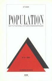 Population 2001 N 6 Novembre-Decembre - Intérieur - Format classique
