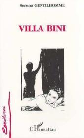 Villa Bini - Couverture - Format classique