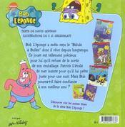 Bob l'éponge ; bas les pattes - 4ème de couverture - Format classique