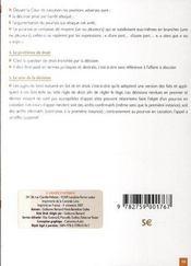 Methodologie des ecrits juridiques - 4ème de couverture - Format classique