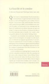 La faucille et le condor ; le discours français sur l'Amérique latine, 1950-1985 - 4ème de couverture - Format classique