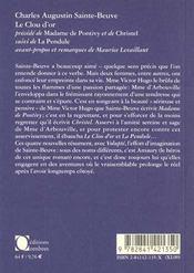 Clou D'Or (Le) - 4ème de couverture - Format classique