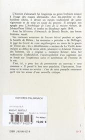 Histoires d'almanach - 4ème de couverture - Format classique