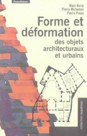 Forme Et Deformation Des Objets Architecturaux - Intérieur - Format classique