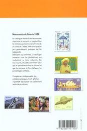 Catalogue mondial des nouveautés 2000 ; tous les timbres émis en 2000 - 4ème de couverture - Format classique