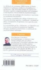 Meditation Antifatigue (La) N.109 - 4ème de couverture - Format classique