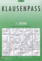 Klausenpass ; 246 - Couverture - Format classique