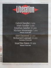 Liberation N°9597 du 20/03/2012 - Couverture - Format classique