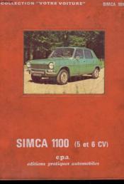 Simca 1000 - 5 Et 6 Cv - Couverture - Format classique