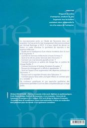 Macroeconomie - 4ème de couverture - Format classique