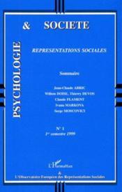 Représentations sociales - Couverture - Format classique